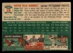 1954 Topps #16  Vic Janowicz  Back Thumbnail