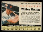 1961 Post Cereal #88 BOX  Whitey Herzog  Front Thumbnail