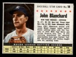 1961 Post Cereal #18 BOX John Blanchard   Front Thumbnail