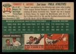 1954 Topps #129   Spook Jacobs Back Thumbnail