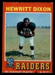 1971 Topps #95   Hewritt Dixon Front Thumbnail
