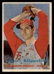 1957 Topps #296   Johnny Klippstein Front Thumbnail