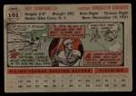 1956 Topps #101   Roy Campanella Back Thumbnail