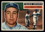 1956 Topps #150   Duke Snider Front Thumbnail