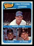 1965 O-Pee-Chee #10  1964 NL Pitching Leaders  -  Larry Jackson / Juan Marichal / Ray Sadecki Front Thumbnail