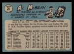 1965 O-Pee-Chee #25  Al McBean  Back Thumbnail