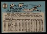 1965 O-Pee-Chee #31  Mike White  Back Thumbnail