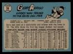 1965 O-Pee-Chee #39   Gerry Arrigo Back Thumbnail