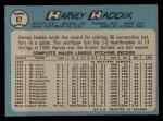 1965 O-Pee-Chee #67   Harvey Haddix Back Thumbnail