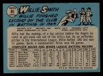 1965 O-Pee-Chee #85   Willie Smith Back Thumbnail