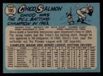 1965 O-Pee-Chee #105   Chico Salmon Back Thumbnail