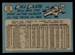 1965 O-Pee-Chee #122   Bill Pleis Back Thumbnail