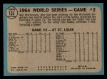 1965 O-Pee-Chee #133   -  Mel Stottlemyre 1964 World Series - Game #2 - Stottlemyre Wins Back Thumbnail