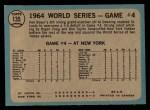 1965 O-Pee-Chee #135  1964 World Series - Game #4 - Boyer's Grand Slam  -  Ken Boyer / Elston Howard Back Thumbnail