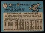 1965 O-Pee-Chee #157   Zoilo Versalles Back Thumbnail