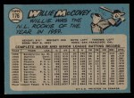 1965 O-Pee-Chee #176  Willie McCovey  Back Thumbnail