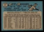 1965 O-Pee-Chee #177  Pete Mikkelsen  Back Thumbnail