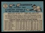1965 O-Pee-Chee #179  Hal Woodeschick  Back Thumbnail