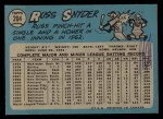 1965 O-Pee-Chee #204   Russ Snyder Back Thumbnail
