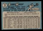 1965 O-Pee-Chee #26  Bob Knoop  Back Thumbnail