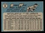 1965 O-Pee-Chee #36  Bob Wine  Back Thumbnail