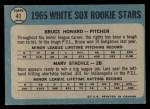 1965 O-Pee-Chee #41   Bruce Howard / Marv Staehle Back Thumbnail