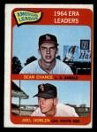 1965 O-Pee-Chee #7  1964 AL ERA Leaders  -  Dean Chance / Joel Horlen Front Thumbnail