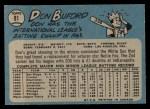 1965 O-Pee-Chee #81  Don Buford  Back Thumbnail