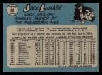 1965 O-Pee-Chee #88   Jack Lamabe Back Thumbnail