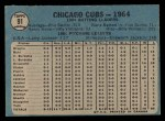 1965 O-Pee-Chee #91   Cubs Team Back Thumbnail