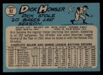 1965 O-Pee-Chee #92   Dick Howser Back Thumbnail