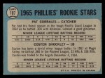 1965 O-Pee-Chee #107  Phillies Rookies  -  Pat Corrales / Costen Shockley Back Thumbnail