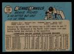 1965 O-Pee-Chee #129  Bennie Daniels  Back Thumbnail