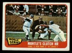 1965 O-Pee-Chee #134  1964 World Series - Game #3 - Mantle's Clutch HR  -  Mickey Mantle / Barney Schultz / Tim McCarver Front Thumbnail