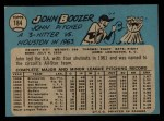 1965 O-Pee-Chee #184   John Boozer Back Thumbnail