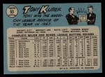 1965 O-Pee-Chee #65   Tony Kubek Back Thumbnail