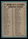 1965 O-Pee-Chee #3  AL HR Leaders  -  Harmon Killebrew / Mickey Mantle / Boog Powell Back Thumbnail