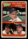 1965 O-Pee-Chee #3  1964 AL Home Run Leaders  -  Harmon Killebrew / Mickey Mantle / Boog Powell Front Thumbnail