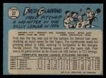1965 O-Pee-Chee #37  Fred Gladding  Back Thumbnail