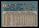 1965 O-Pee-Chee #27  Dick Bertell  Back Thumbnail