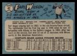 1965 O-Pee-Chee #42  Earl Wilson  Back Thumbnail