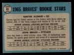 1965 O-Pee-Chee #82   Sandy Alomar / John Braun Back Thumbnail