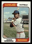 1974 Topps #303   George Hendrick Front Thumbnail