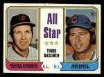 1974 Topps #334  All-Star Third Baseman    -  Brooks Robinson / Ron Santo Front Thumbnail