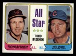 1974 Topps #334   -  Brooks Robinson / Ron Santo All-Star Third Baseman   Front Thumbnail