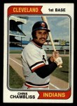 1974 Topps #384   Chris Chambliss Front Thumbnail