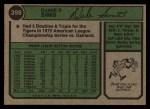 1974 Topps #398   Duke Sims Back Thumbnail