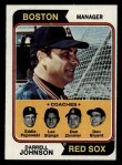 1974 Topps #403  Red Sox Leaders    -  Darrell Johnson / Don Bryant / Eddie Popowski / Lee Stange / Don Zimmer Front Thumbnail
