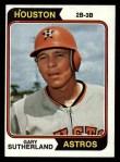 1974 Topps #428   Gary Sutherland Front Thumbnail
