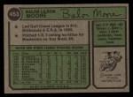 1974 Topps #453   Balor Moore Back Thumbnail